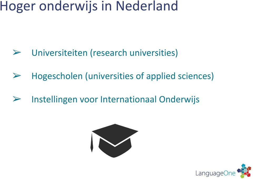 Hogescholen (universities of applied