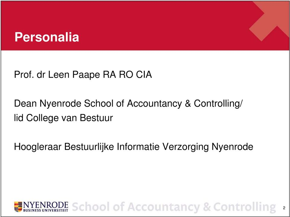 School of Accountancy & Controlling/ lid