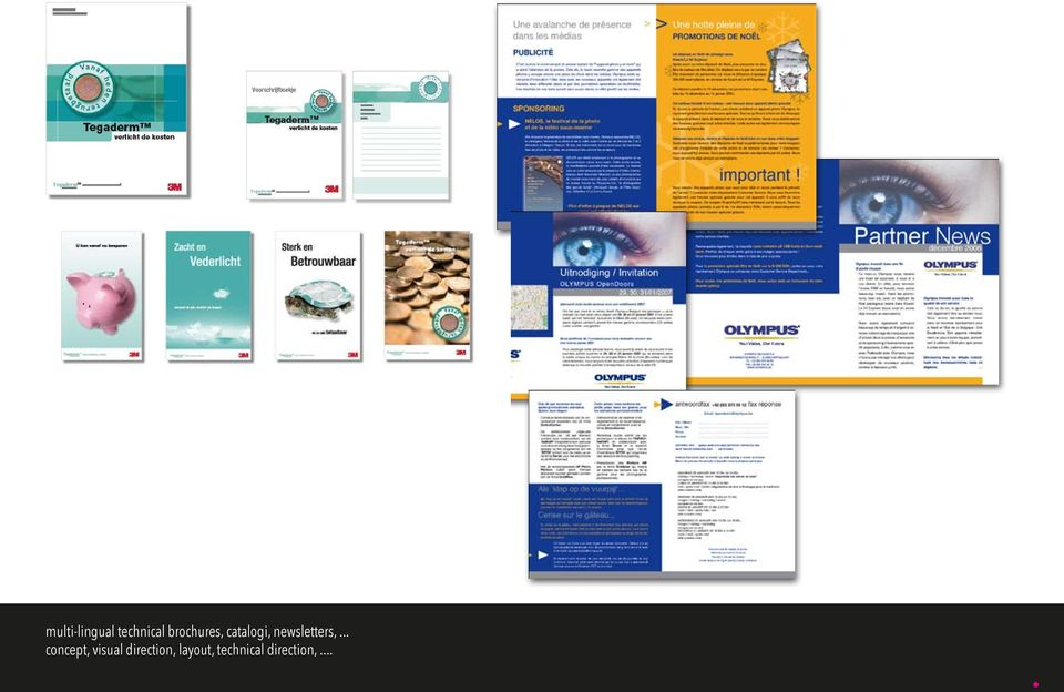 OLYMPUS multi-lingual technical brochures, catalogi,