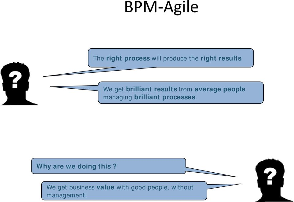 managing brilliant processes. Why are we doing this?