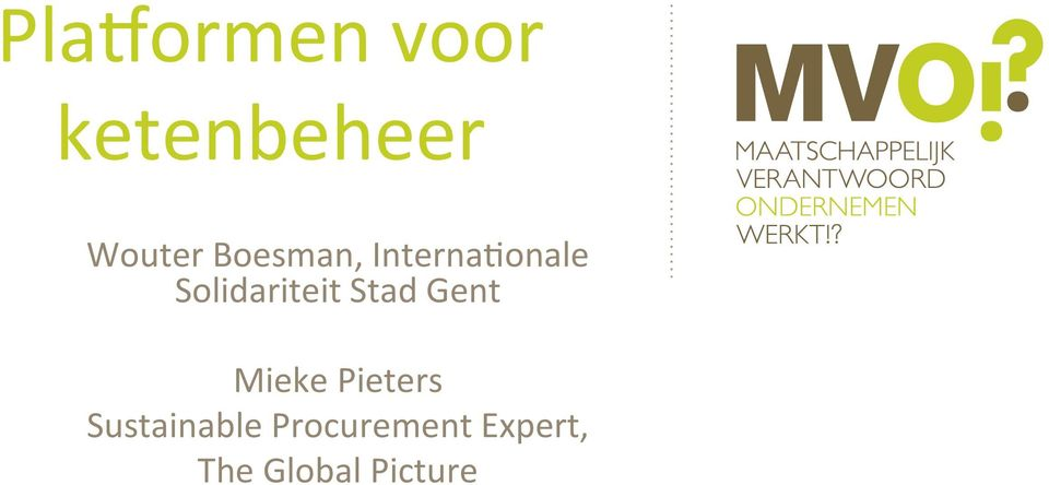 Stad Gent Mieke Pieters Sustainable