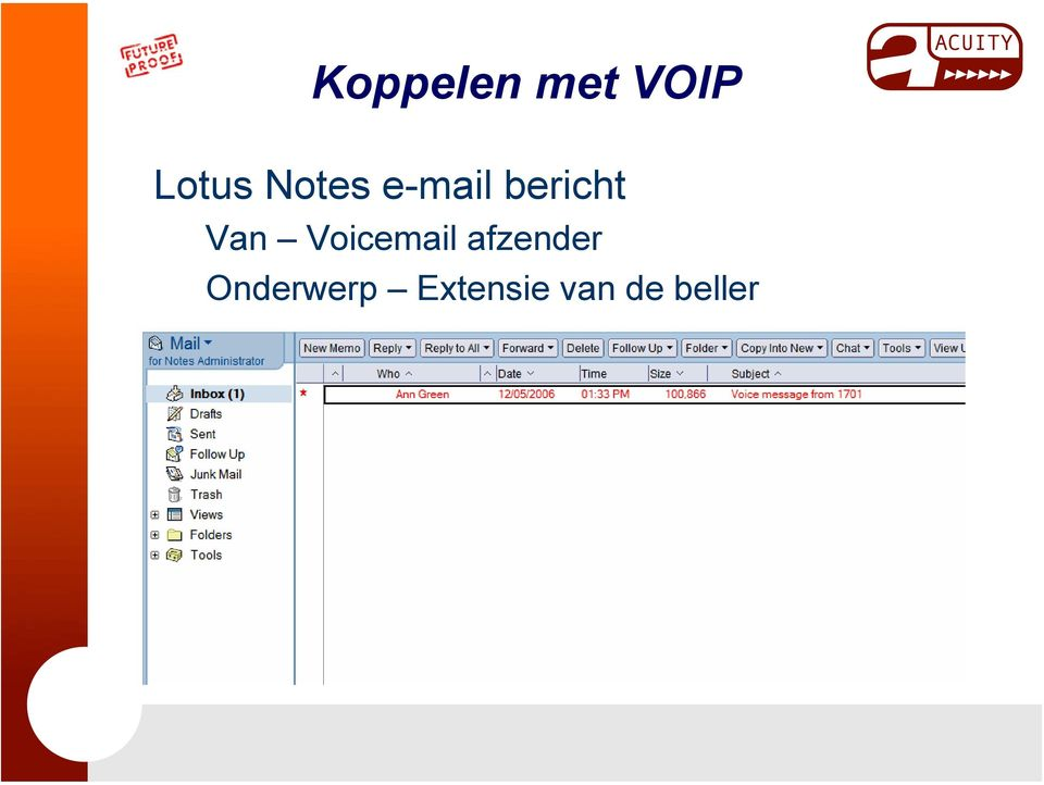 Voicemail afzender