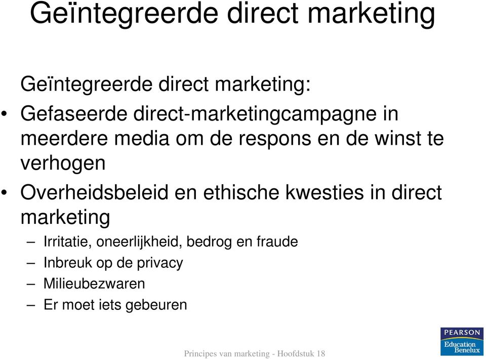 verhogen Overheidsbeleid en ethische kwesties in direct marketing Irritatie,