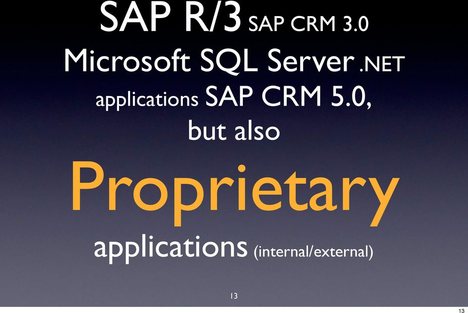 NET applications SAP CRM 5.