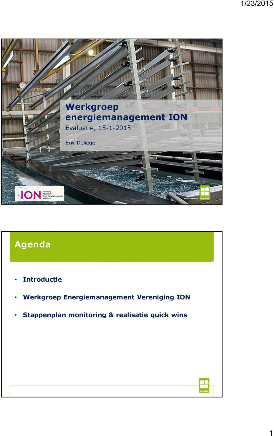 Werkgroep Energiemanagement Vereniging ION