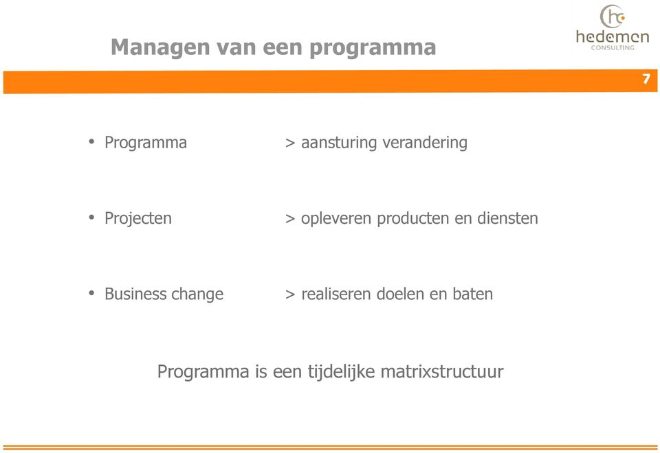 producten en diensten Business change >