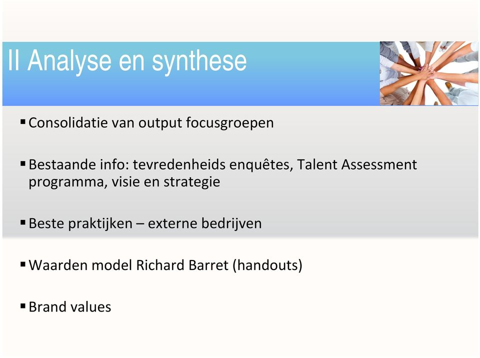 Talent Assessment programma, visie en strategie Beste