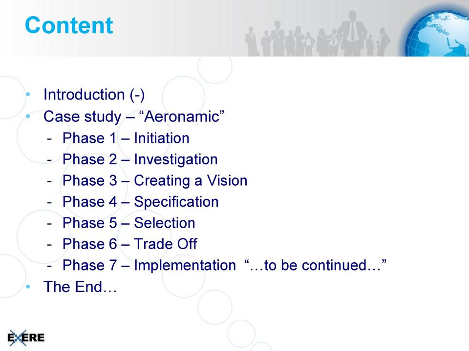 Vision - Phase 4 Specification - Phase 5 Selection -