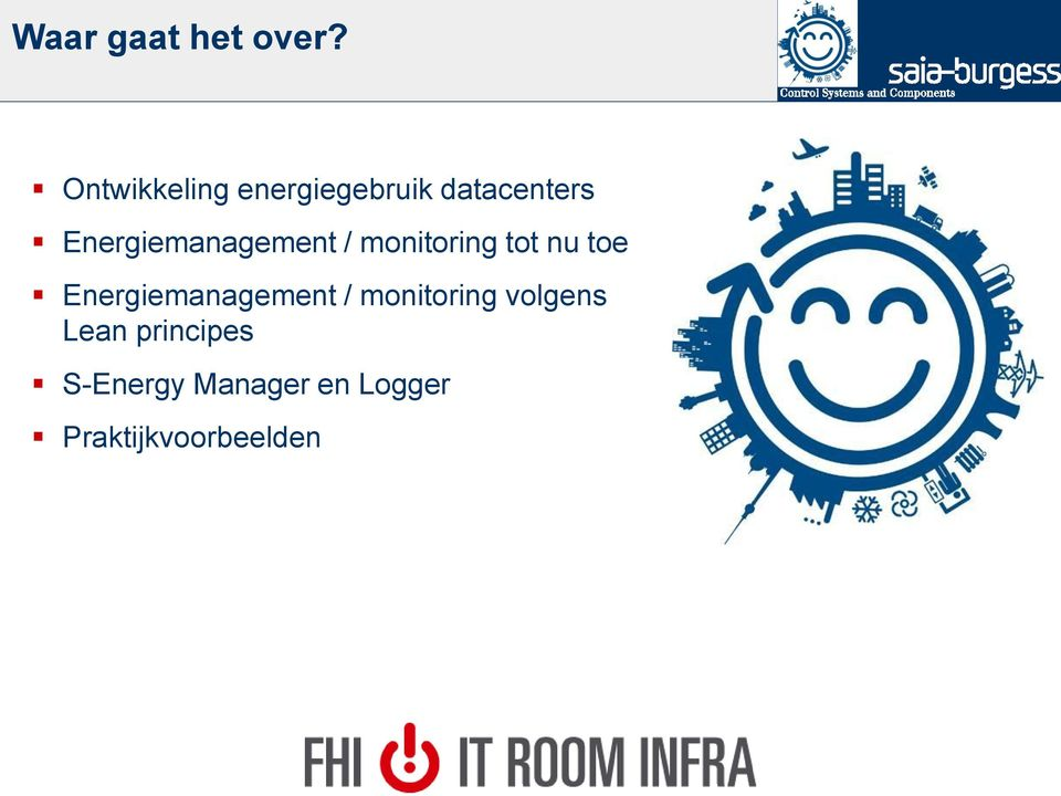 Energiemanagement / monitoring tot nu toe