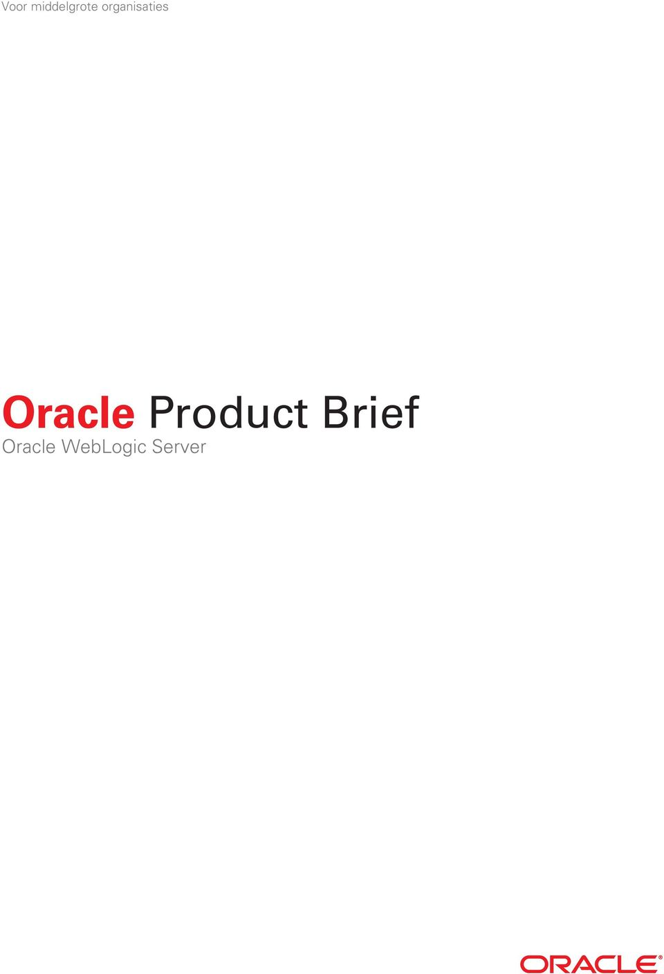Oracle Product