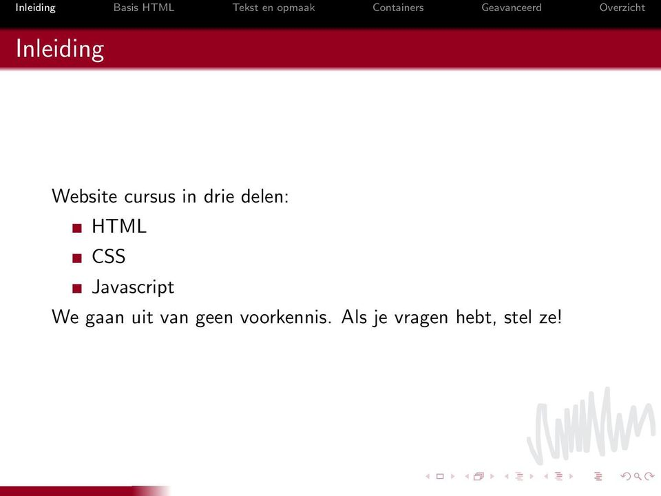 Javascript We gaan uit van