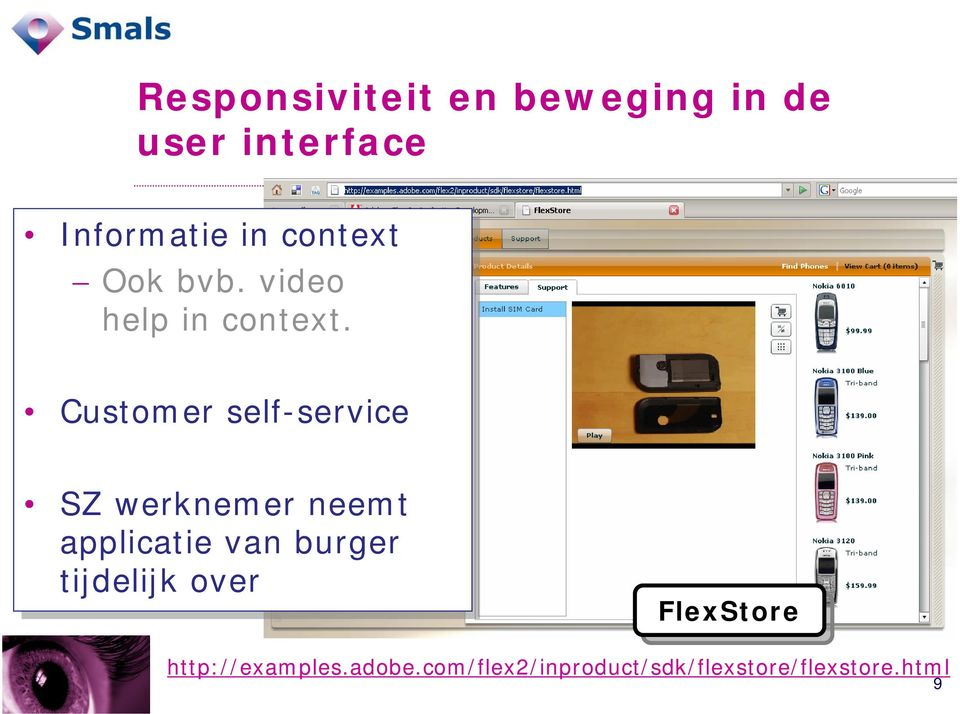 Customer self-service SZ werknemer neemt applicatie van burger
