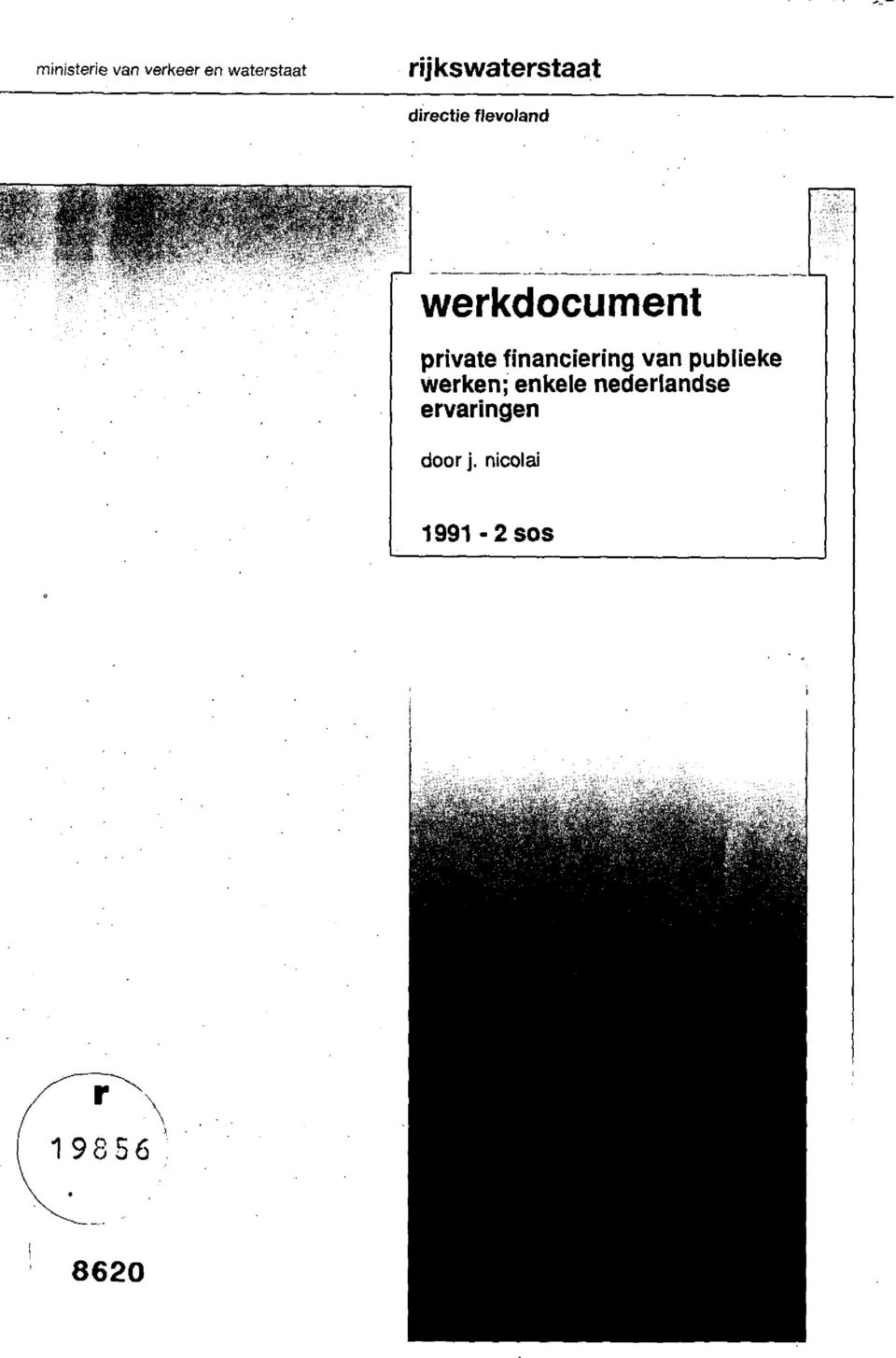 werkdocument private financiering van