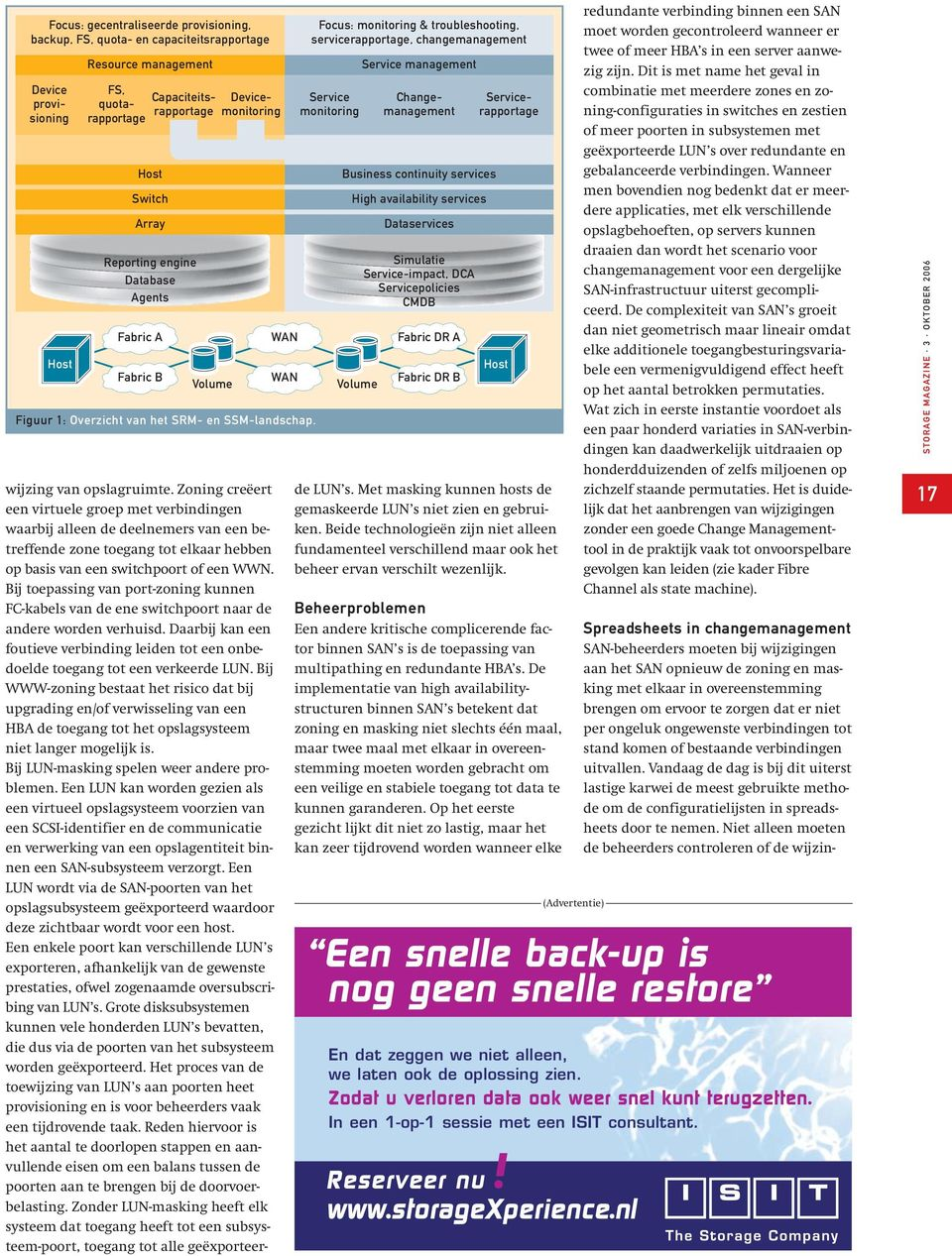 Focus: monitoring & troubleshooting, servicerapportage, changemanagement Service monitoring Service management Business continuity services High availability services Dataservices Simulatie