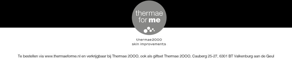 ook als giftset Thermae 2OOO,