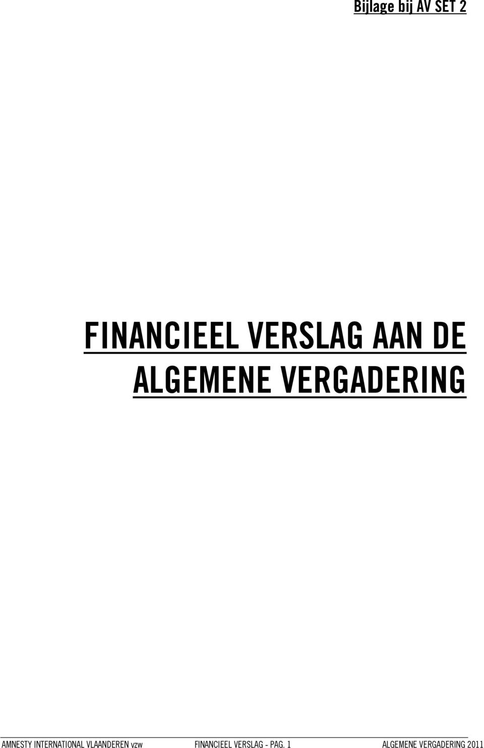 INTERNATIONAL VLAANDEREN vzw FINANCIEEL