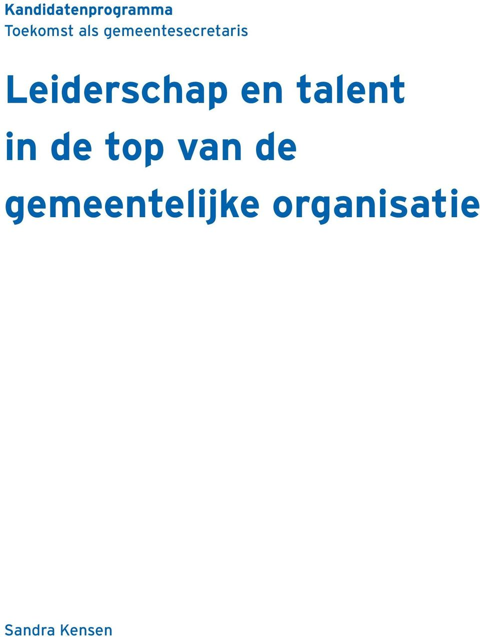 en talent in de top van de