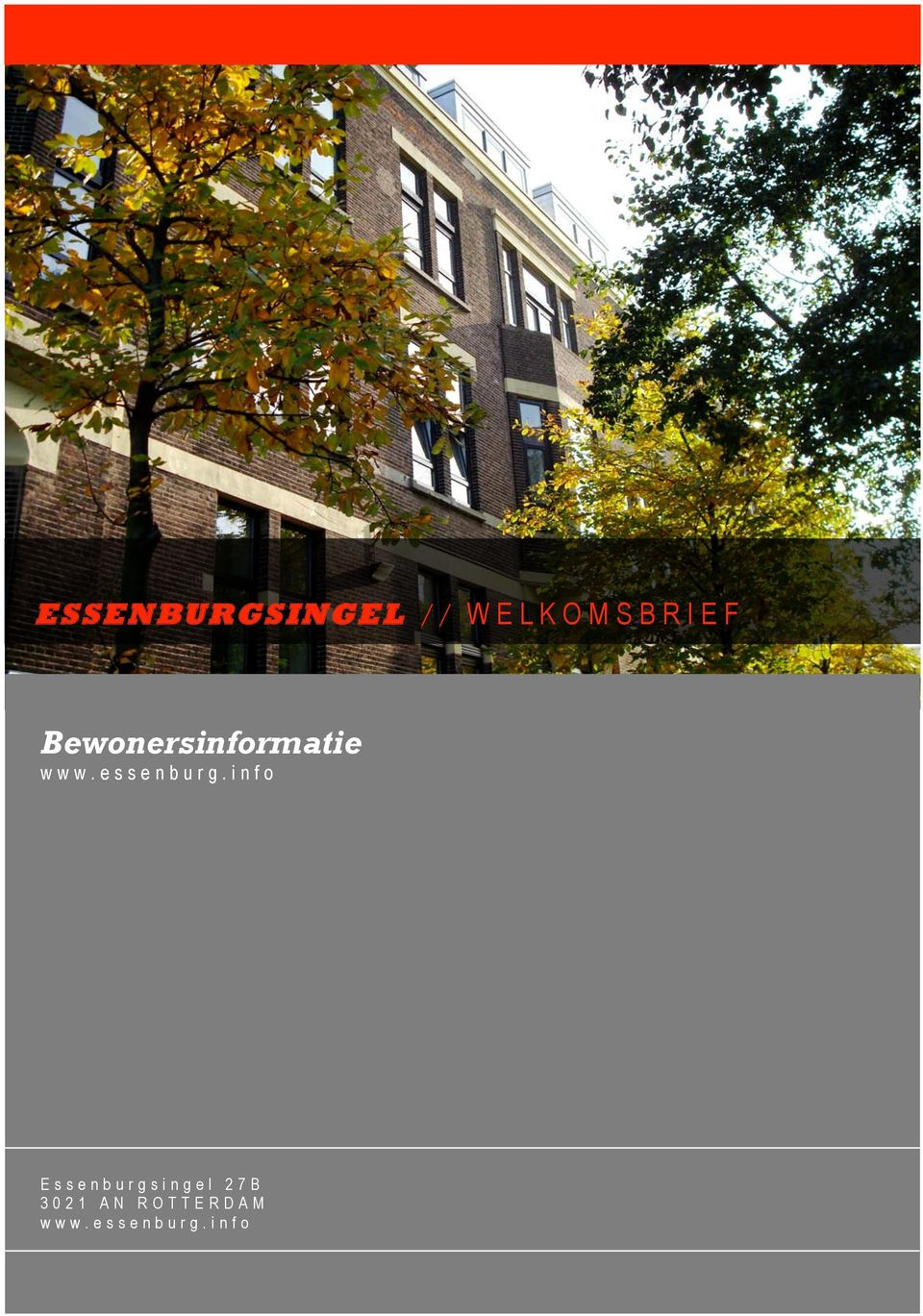 info Essenburgsingel