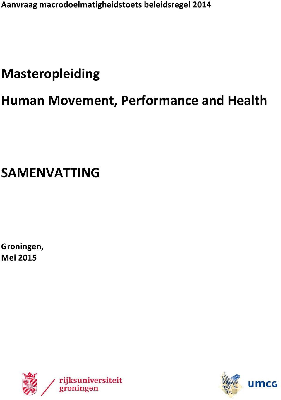 Human Movement, Performance and