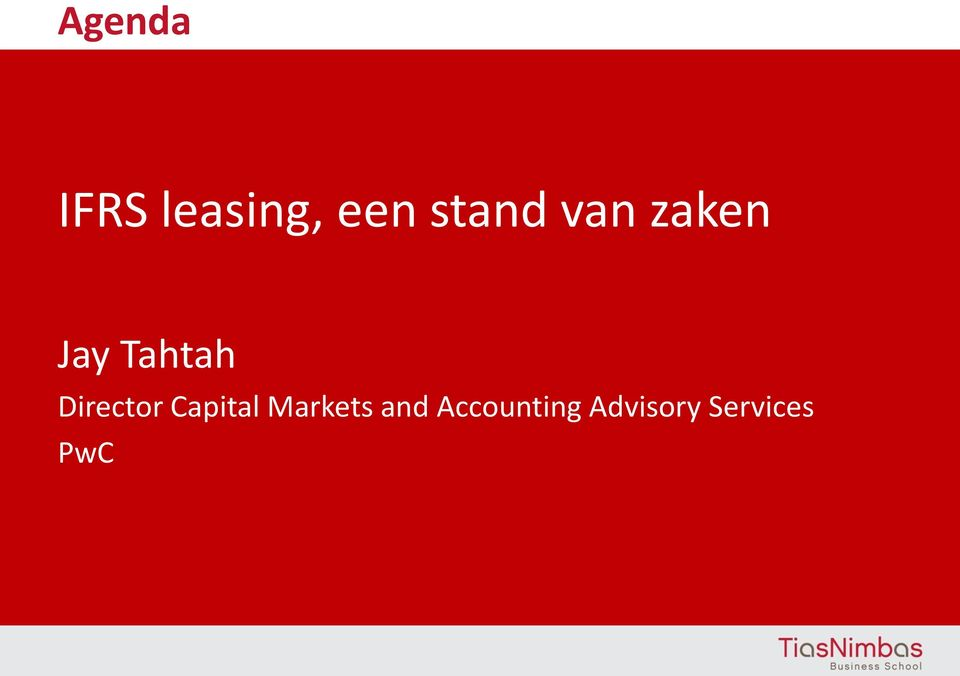 Director Capital Markets and