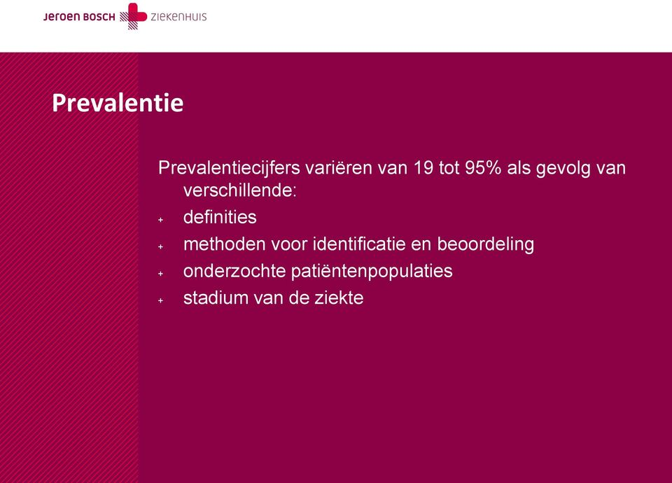definities + methoden voor identificatie en