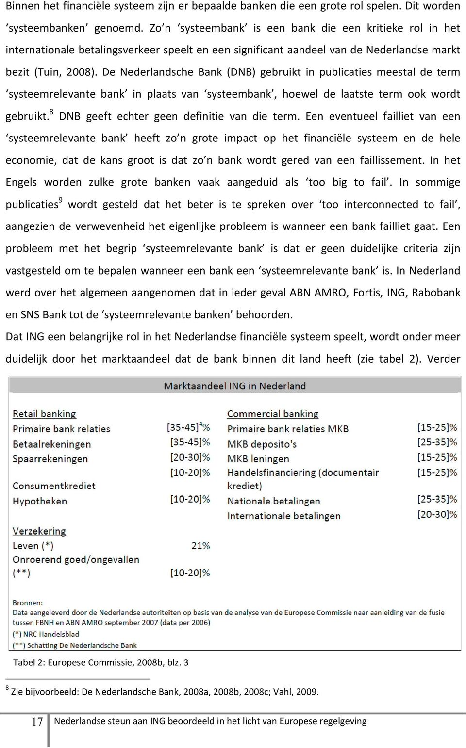 De Nederlandsche Bank (DNB) gebruikt in publicaties meestal de term systeemrelevante bank in plaats van systeembank, hoewel de laatste term ook wordt gebruikt.