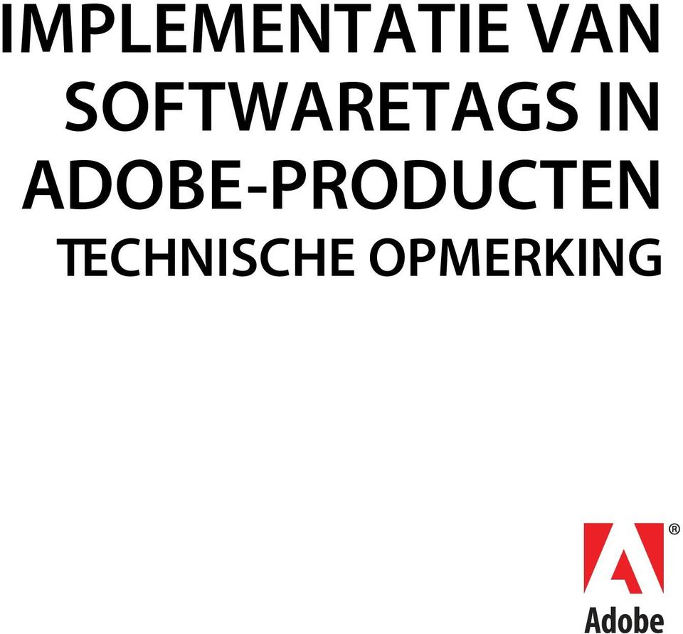 ADOBE-PRODUCTEN
