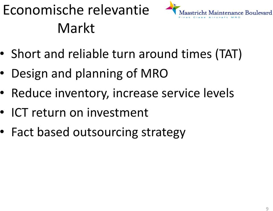 MRO Reduce inventory, increase service levels ICT