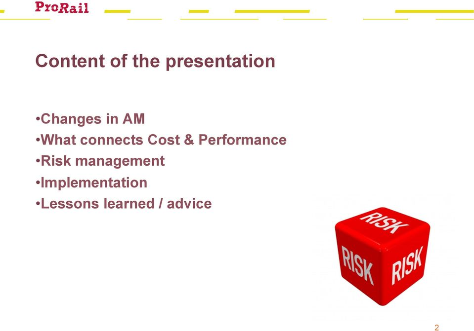 & Performance Risk management