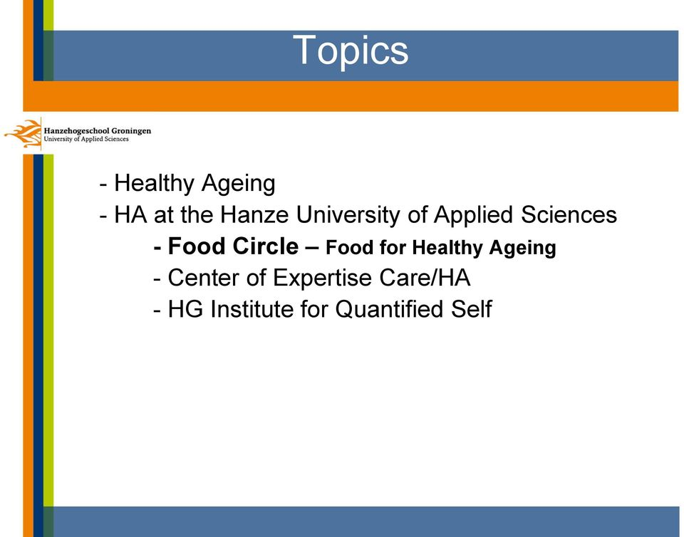 Circle Food for Healthy Ageing - Center of