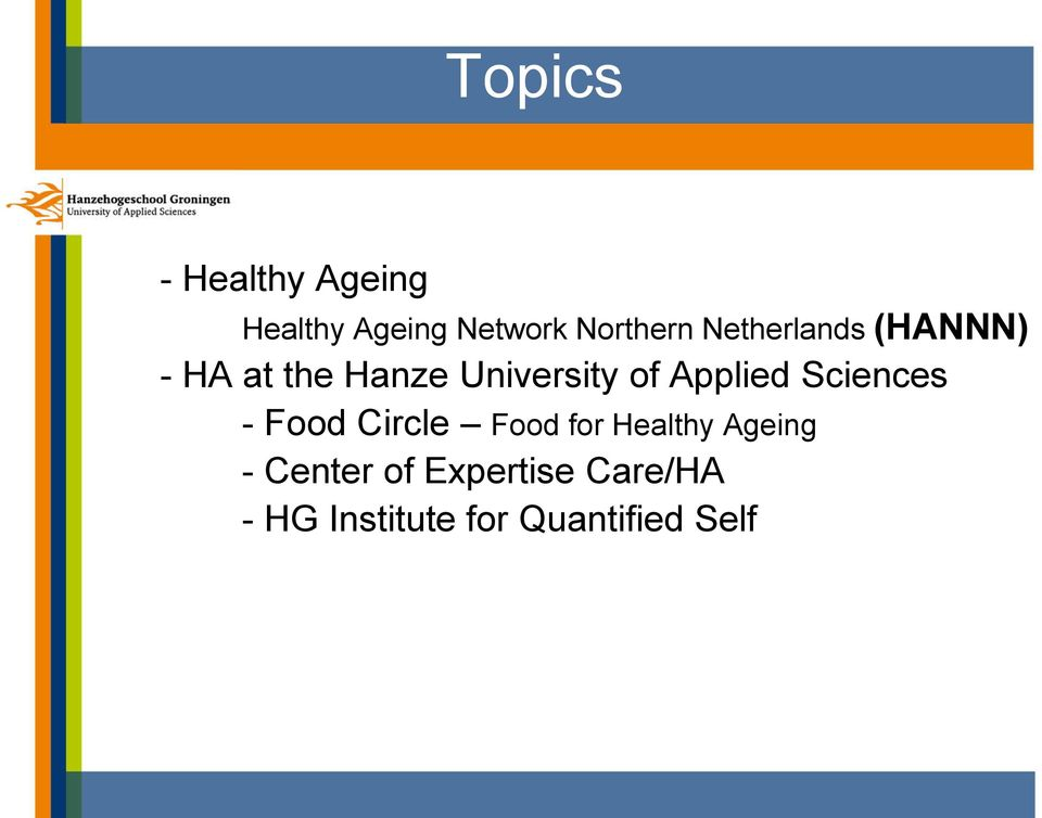 Applied Sciences - Food Circle Food for Healthy Ageing -
