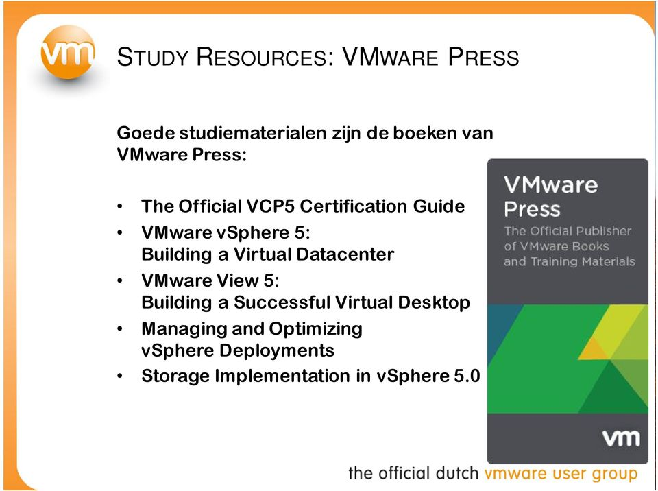 Building a Virtual Datacenter VMware View 5: Building a Successful Virtual
