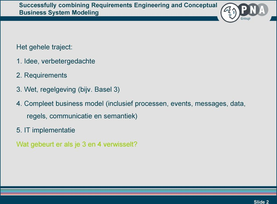 Compleet business model (inclusief processen, events, messages,