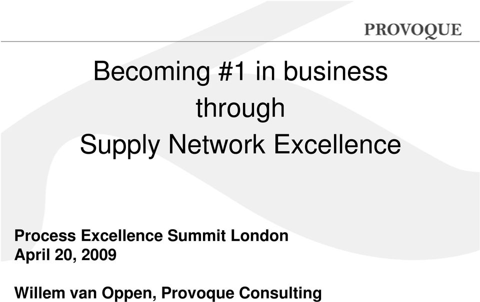 Excellence Summit London April 20,