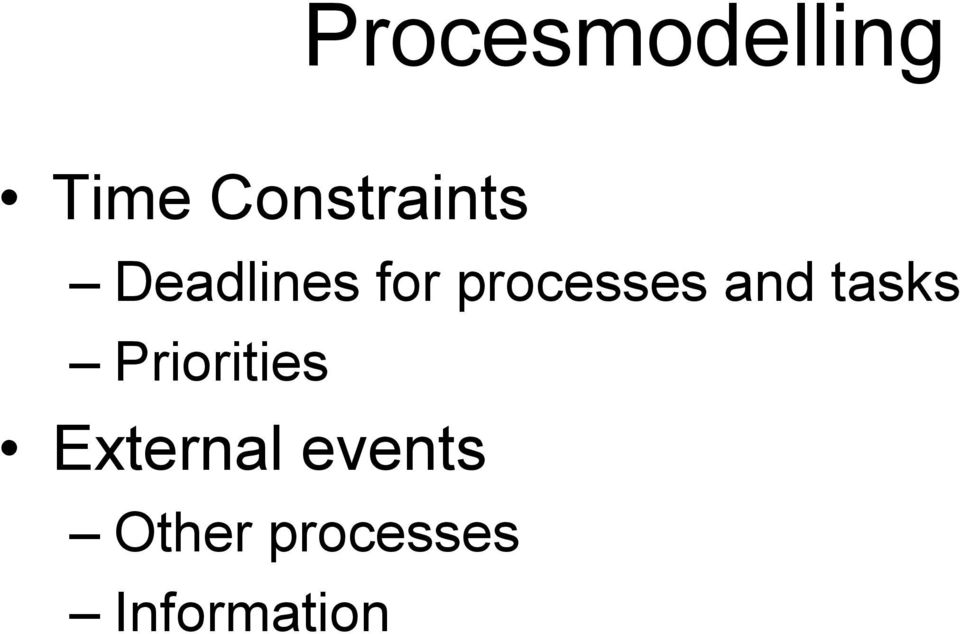 processes and tasks Priorities