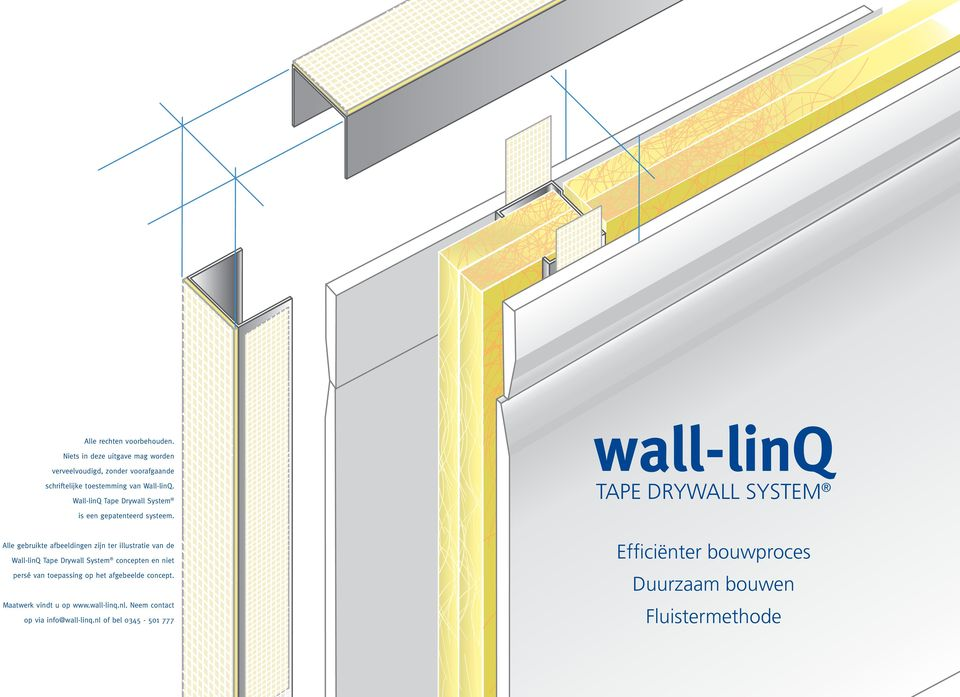 wall-linq TAPE DRYWALL SYSTEM is een gepatenteerd systeem.