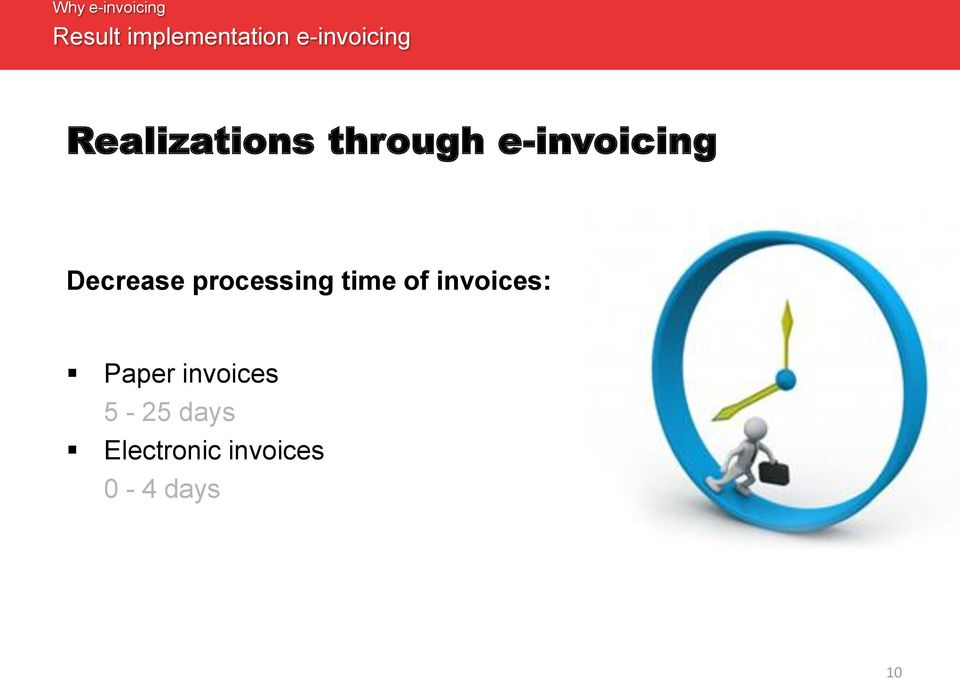 Decrease processing time of invoices: Paper