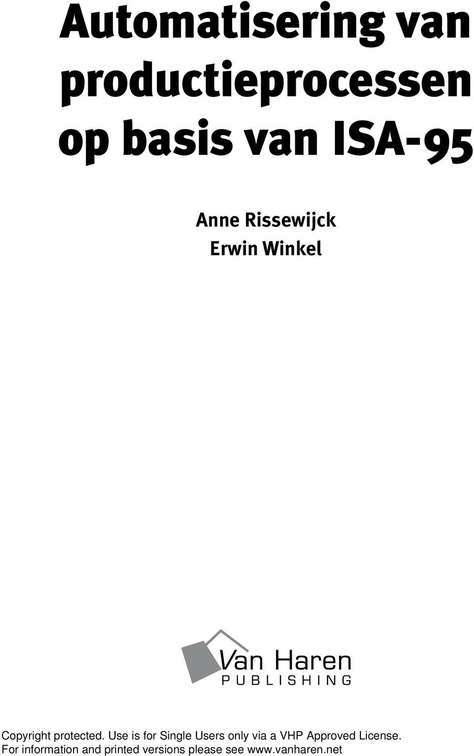 basis van ISA-95 Anne