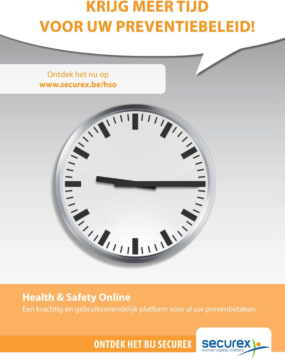 be/hso Health & Safety Online Een krachtig