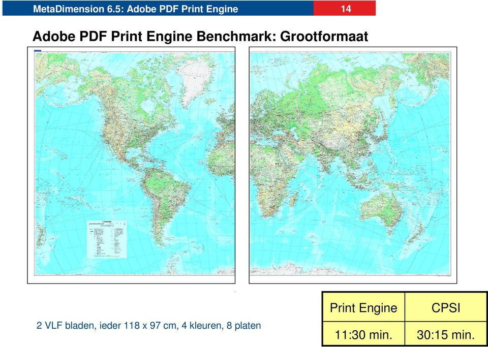 Engine Benchmark: Grootformaat 2 VLF bladen,
