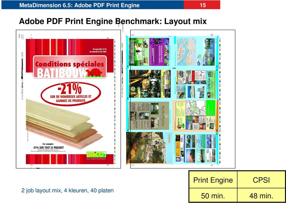 Print Engine Benchmark: Layout mix 2 job