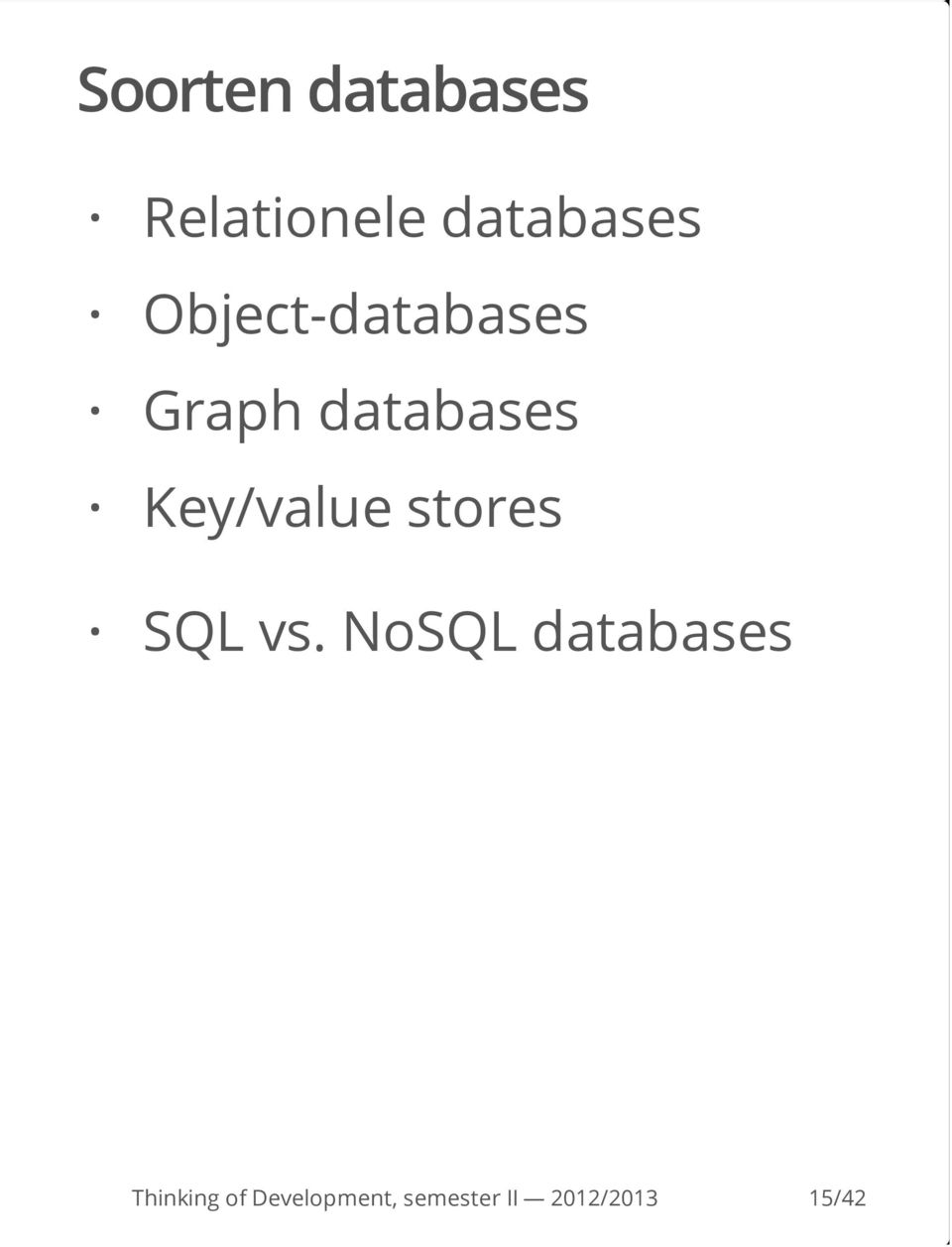 Graph databases Key/value