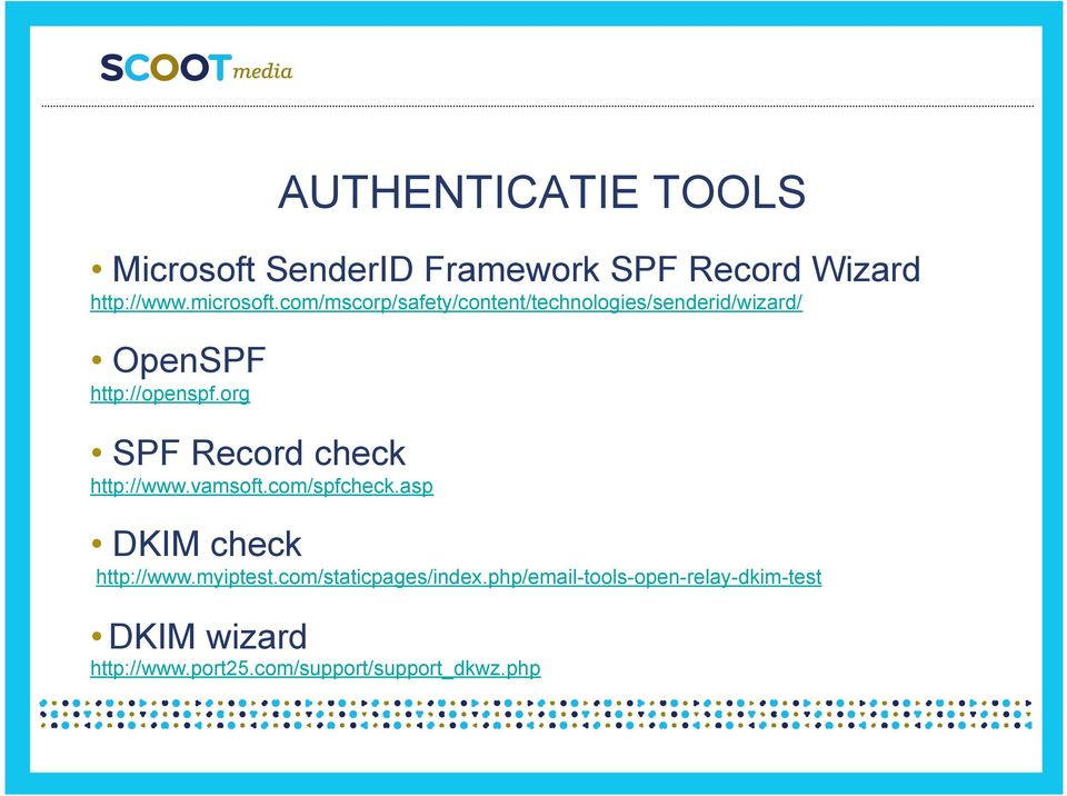 org SPF Record check http://www.vamsoft.com/spfcheck.asp DKIM check http://www.myiptest.