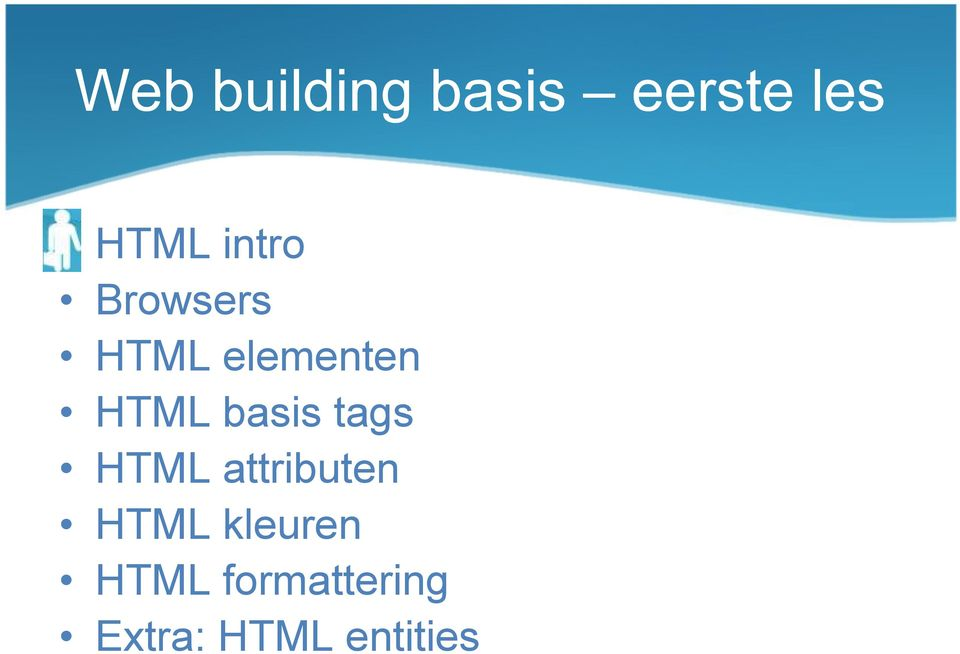 basis tags HTML attributen HTML
