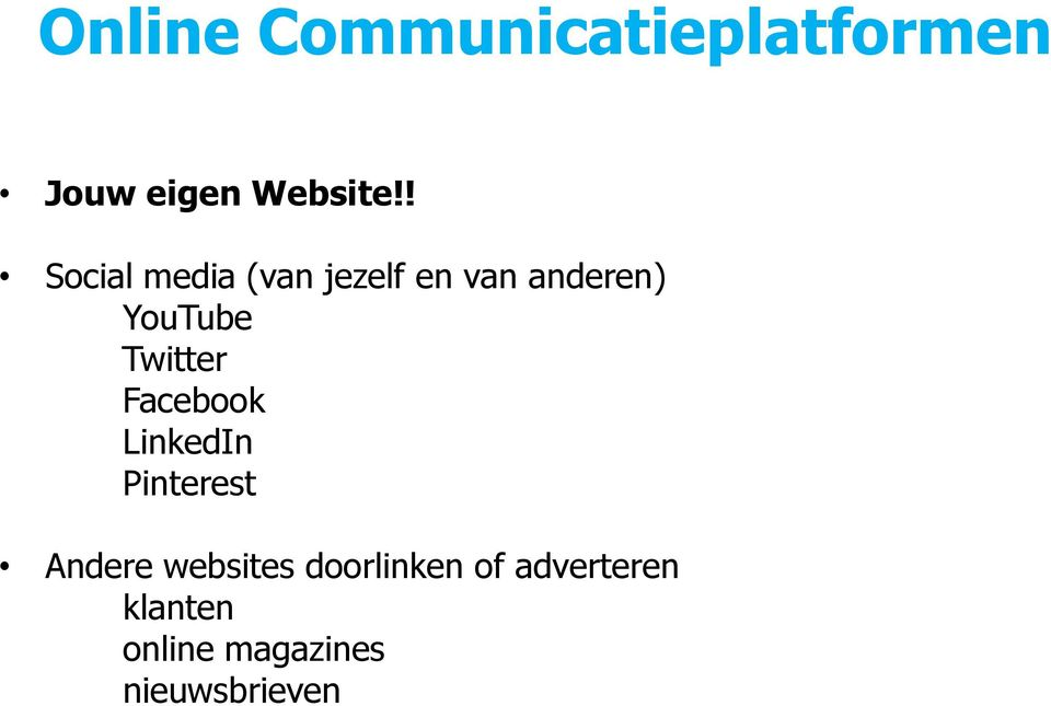 Twitter Facebook LinkedIn Pinterest Andere websites