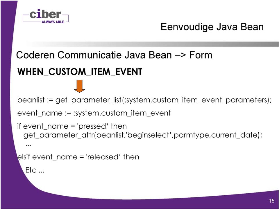 custom_item_event_parameters); event_name := :system.