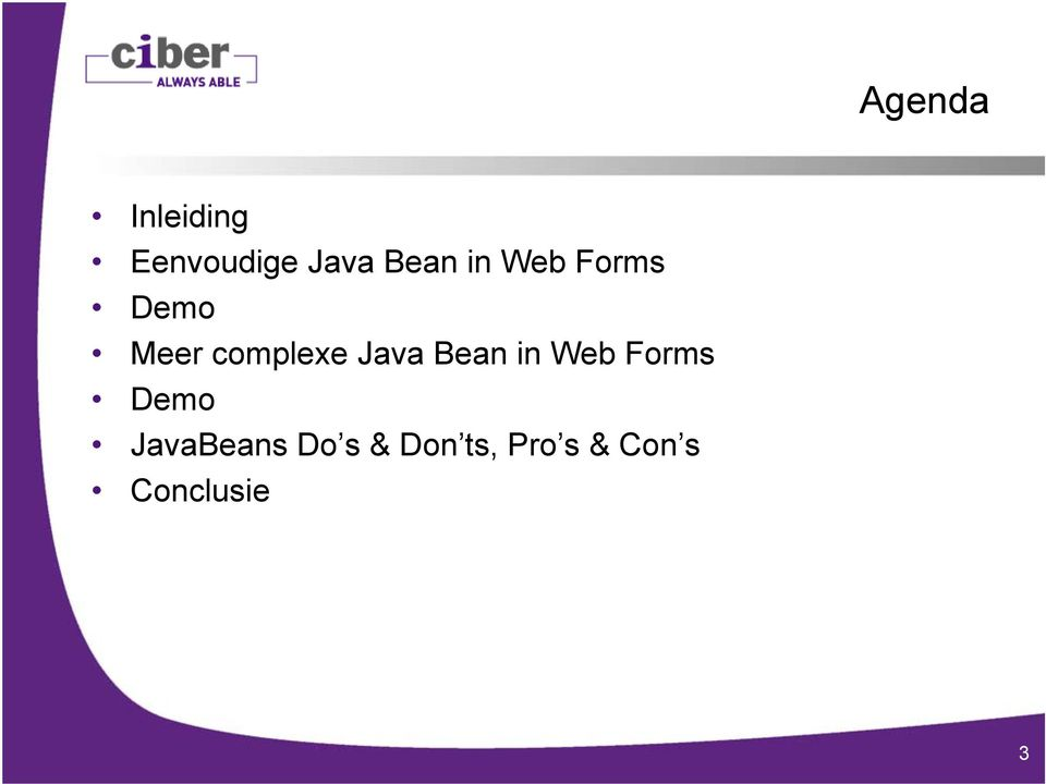 Java Bean in Web Forms Demo