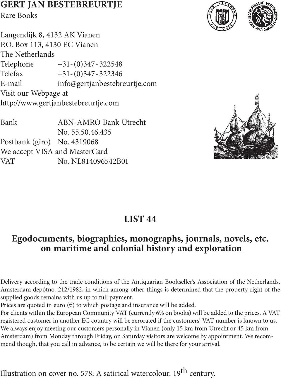 NL814096542B01 LIST 44 Egodocuments, biographies, monographs, journals, novels, etc.