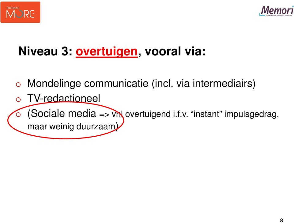 via intermediairs) TV-redactioneel (Sociale