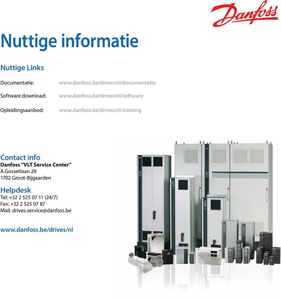 be/drives/nl/software www.danfoss.